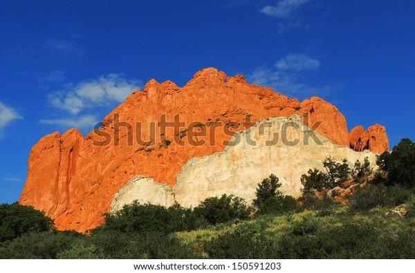 Kissing Camels Garden Gods Colorado Springs Stock Photo