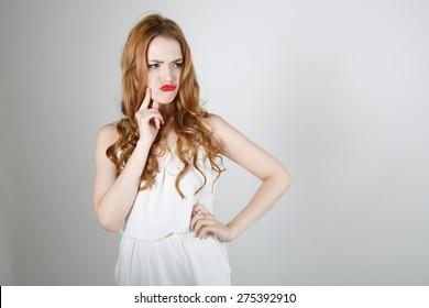 Kissing Young Woman Portrait