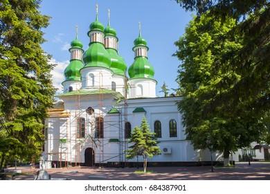 Kitaev Monastery of the Holy Trinity (Kitaevo) in Kiev, Ukraine