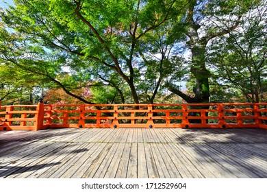 Kitano Tenmangu Shrine Noh Stage - Shutterstock ID 1712529604