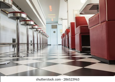 kitchen in a american diner restaurant