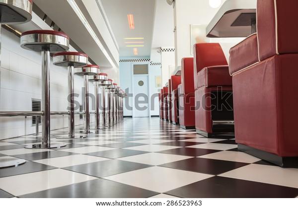 Küche im amerikanischen Restaurant Stockfoto (Jetzt ...