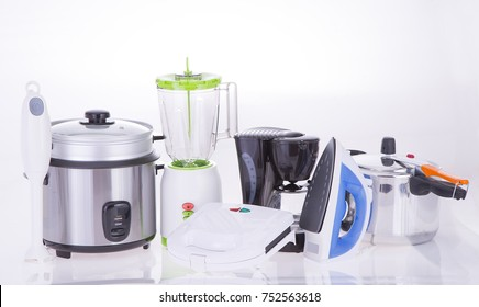 Kitchen Appliances on a neutral background