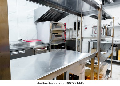 Kitchen appliances in professional kitchen in a restaurant