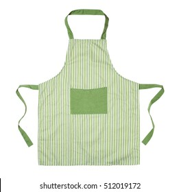 Kitchen apron isolated on white