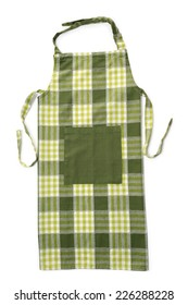 Kitchen apron on white background