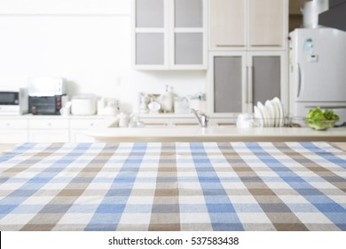 Kitchen background with table cloth