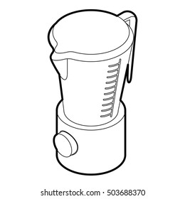 Kitchen blender machine icon in outline style on a white background  illustration