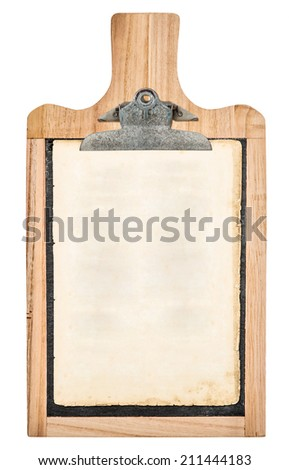 Kitchen Board Clipboard Your Text Recipe Stock Photo (Edit Now ...
