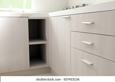 kitchen cabinet in kitchen