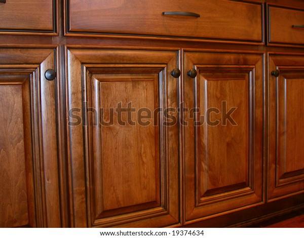 Kitchen Cabinet Doors Stock Photo Edit Now 19374634