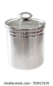 Kitchen canister to hold dry materiel such as sugar or flour.