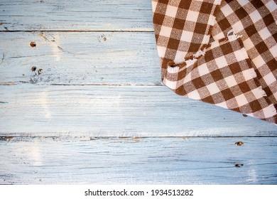 Kitchen Cloth  on wooden Background