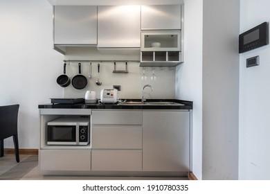 kitchen corner in the small condo