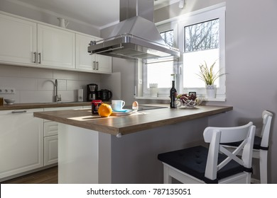 Kitchen in a cottage on the Baltic Sea