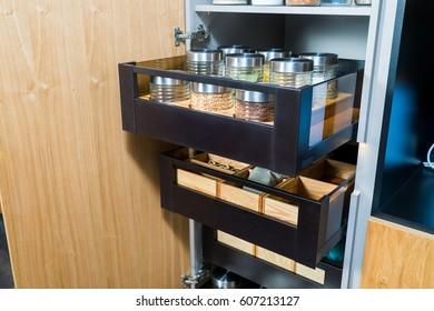 Kitchen cupboard for food storage