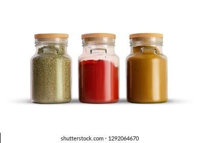 Kitchen design, storage tanks for spice.
