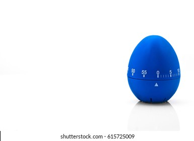 kitchen egg timer blue isolated on white background