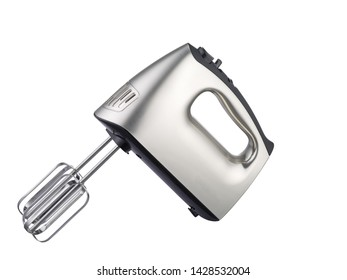 Kitchen Electric hand mixer isolated on white