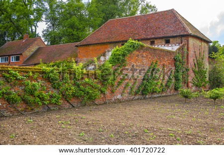 Kitchen Garden Audley End House Essex Stock Photo Edit Now