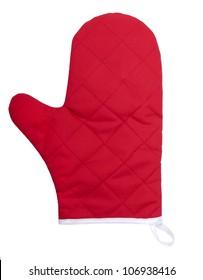 Kitchen glove isolated on white background