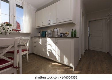 Kitchen in a holiday apartment