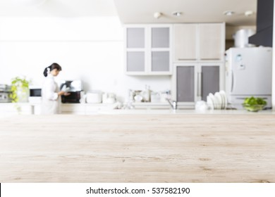 Kitchen and housewife background