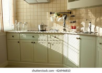 kitchen inerrior in warm tone