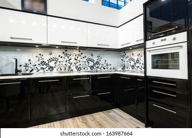 Black And White Kitchen Images Stock Photos Vectors Shutterstock