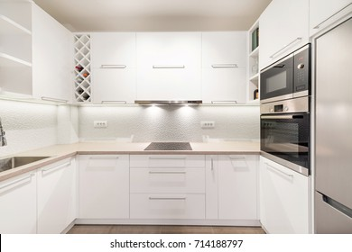 Kitchen interior with appliances