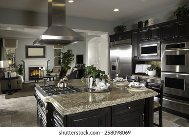 Kitchen Interior Design Architecture Home House Contemporary Kitchen Interior Architecture Stock Images,New Homes, Living room, Bathroom,Kitchen,Bed room, Office, Interior exterior photography.