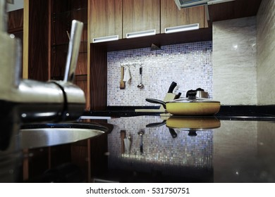 Kitchen interior in family house