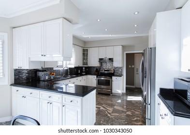 Kitchen interior in luxury home