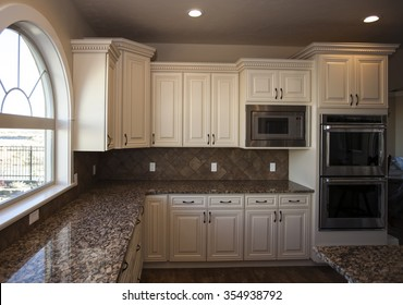 kitchen interior in new luxury home
