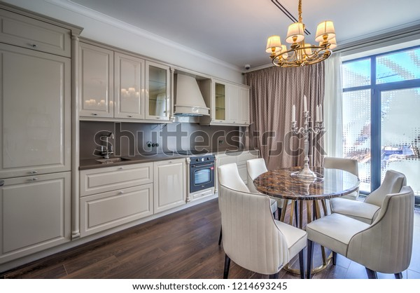Kitchen Interior New Luxury Home Touch Stock Photo Edit Now 1214693245