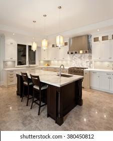 Kitchen interior in new luxury house