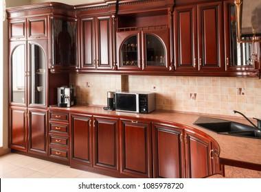 kitchen interior wooden luxury