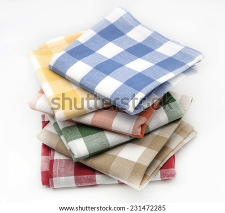 16eb40cd236 Kitchen Linen Different Colors On White Stock Photo (Edit Now ...