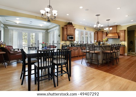 Good Kitchen In Luxury Home With Sitting Room