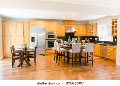 Kitchen in a model home