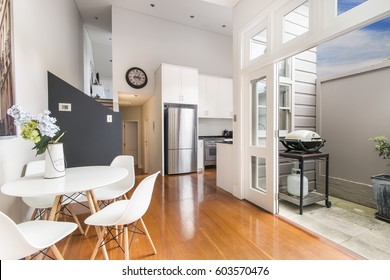 the kitchen with modern style