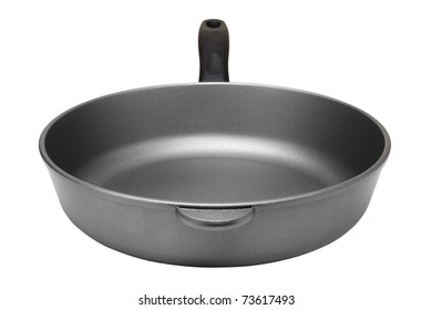 Kitchen pan isolated on white background, front view