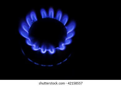 a kitchen range on black background - methane natural gas
