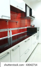 Red Kitchen Tiles Hd Stock Images Shutterstock