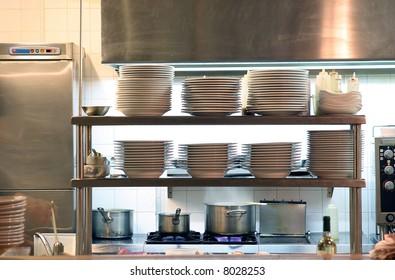 Kitchen of a restaurant