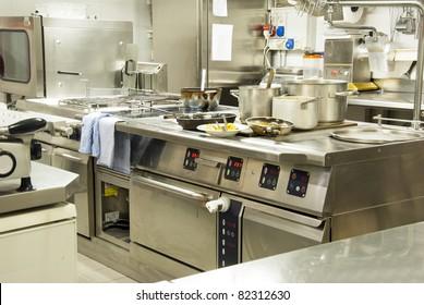 A kitchen in a restaurant