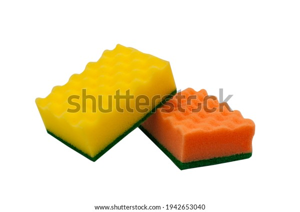 Kitchen sponges. Dishwashing sponges. Cleaner.
