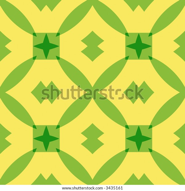 Kitchen tile in green and yellow. Retro style. Seamless tile.