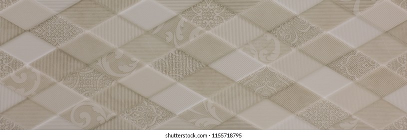 kitchen tile with modern abstract mosaic pattern