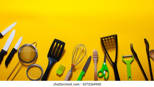 Kitchen tools. Background.